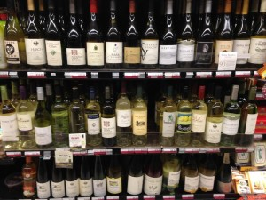 Keith Trimble's local wine selection
