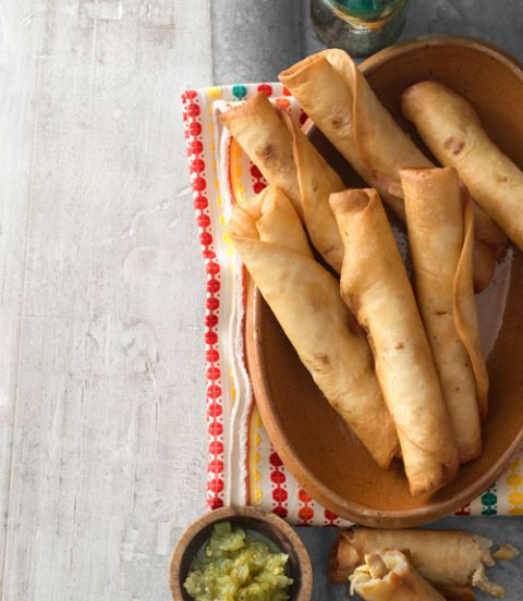 Homemade Chicken Flautas